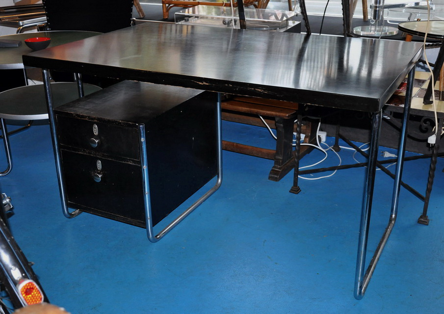 org 30er jahre thonet bauhaus schreibtisch desk b287 bruno weil ebay. Black Bedroom Furniture Sets. Home Design Ideas